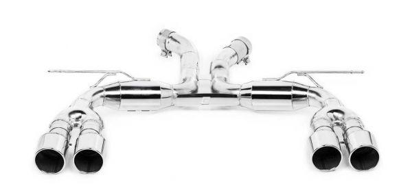 Eisenmann Endschalldämpfer Edelstahl Duplex (links/rechts),schräger Abschnitt, Farbe Chrom/Aluminium