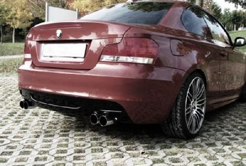 Eisenmann connection pipe + rear muffler duplex (left + right) BMW E82 Coupe/BMW E88 Cabrio/ convertible