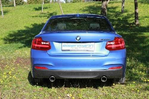 Eisenmann Racing rear muffler Motorsport Sound stainless steel Duplex (left + right) BMW F23 M235i
