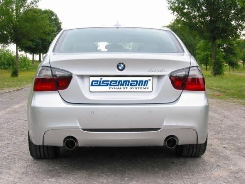 Eisenmann Racing Motorsport Sound Endschalldämpfer Edelstahl Duplex (links/rechts) BMW E90 Limousine