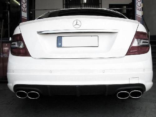 Eisenmann Anschlussrohr+ Mittelschalldämpfer+ Endschalldämpfer Duplex (links/rechts) Mercedes-Benz W