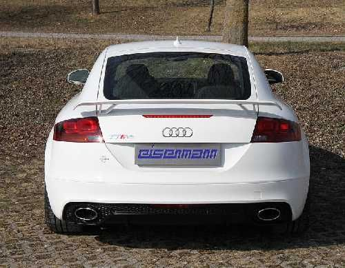 Eisenmann middlemuffler+Racing rear muffler Motorsport Sound stainless steel without tips RS Coupe 8J9