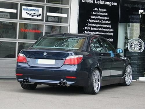 Eisenmann rear muffler stainless steel Duplex (left + right) BMW E60 Limousine/ sedan/BMW E61 Touring/estate