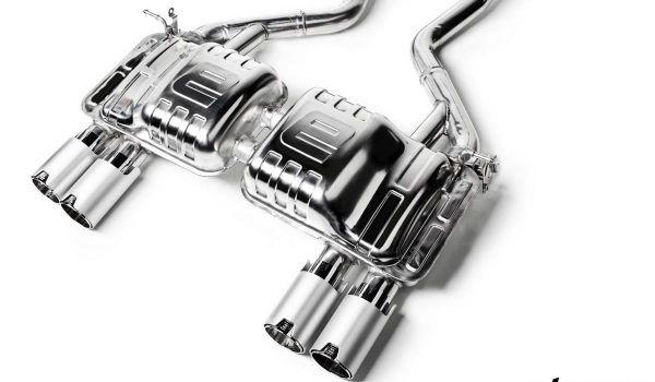 Eisenmann Endschalldämpfer, ER gerader Abschnitt, Farbe Chrom/Aluminium schwarz eloxiert Duplex (lin