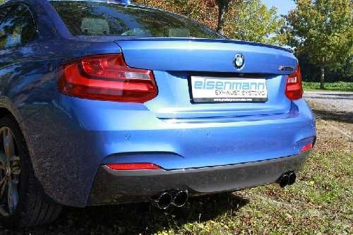 Eisenmann Soundrohr Edelstahl ohne Endrohre BMW F22 M235i