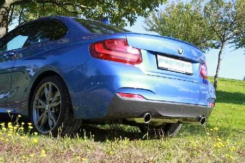 Eisenmann Middle muffler stainless steel without tips BMW F23 M235i