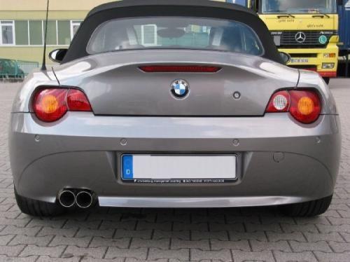 Eisenmann Endschalldämpfer Edelstahl Einseitig BMW E85 Roadster/BMW E86 Coupe mit Aerodynamic-Hecksc