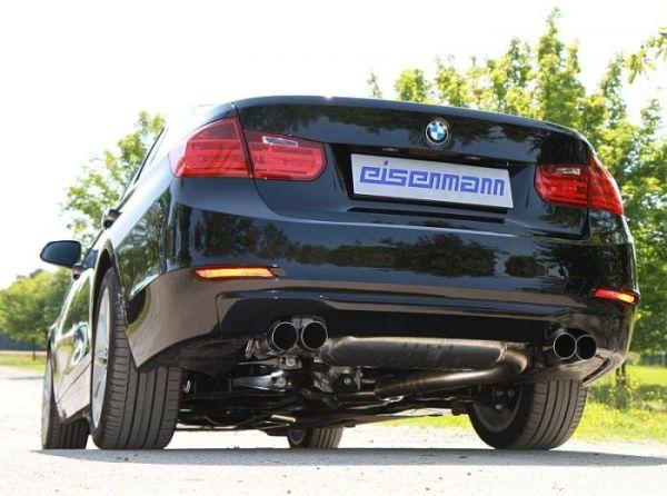 Eisenmann Racing rear muffler Motorsport Sound stainless steel Duplex (left + right) BMW F30/F31 Limousine und Touring / sedan and estate