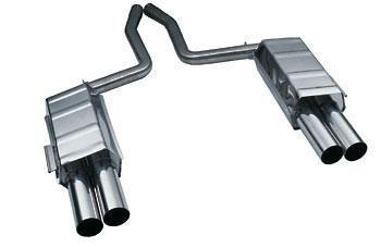 Eisenmann rear muffler stainless steel Duplex (left + right) BMW E38