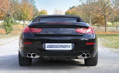 Eisenmann Racing rear muffler Motorsport Sound stainless steel Duplex (left + right) F12 Limousine / sedan