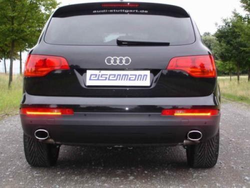 Eisenmann rear muffler stainless steel ohne Endrohre Duplex (left + right) Audi Q7