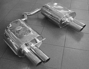 Eisenmann Racing rear muffler Motorsport Sound stainless steel Duplex (left + right) BMW E63 Coupe/BMW E64 Cabrio/ convertible