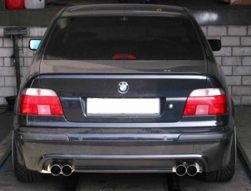 Eisenmann Endschalldämpfer Edelstahl Duplex (links/rechts) BMW E39 Limousine/ sedan mit M-Technik-Se