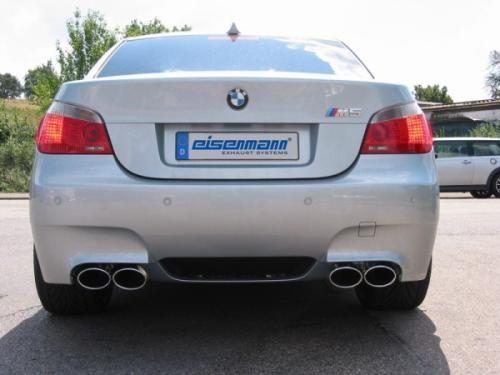 Eisenmann rear muffler stainless steel Duplex (left + right) BMW E60 Limousine/ sedan