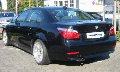 Eisenmann rear muffler stainless steel single sided BMW E60 Limousine/ sedan/BMW E61 Touring/estate