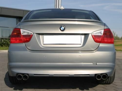 Eisenmann Racing rear muffler Motorsport Sound stainless steel Duplex (left + right) BMW E90 Limousine/ sedan/BMW E91 Touring/estate