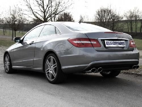 Eisenmann middle muffler + rear muffler Duplex (left + right) W207 Coupe