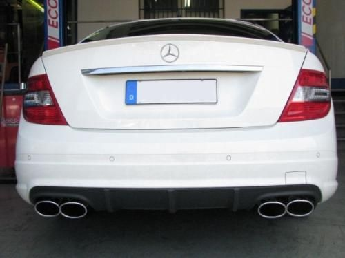 Eisenmann connection pipe +middle muffler+ Racing rear muffler Motorsport Sound Duplex (left + right) Mercedes-Benz W204