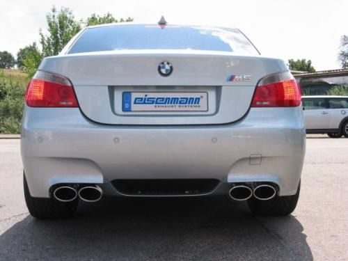 Eisenmann Racing rear muffler Motorsport Sound stainless steel Duplex (left + right) BMW E60 Limousine/ sedan