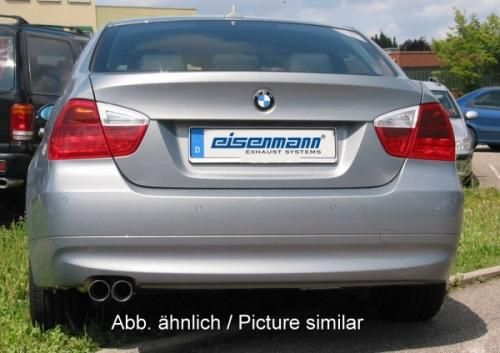 Eisenmann Racing rear muffler Motorsport Sound stainless steel for car with flange single sided BMW E92 Coupe/BMW E93 Cabrio/ convertible