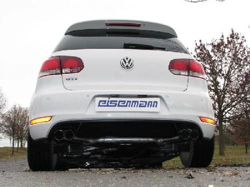 Eisenmann Racing rear muffler Motorsport Sound stainless steel duplex (left + right) Golf 6 Limousine/sedan