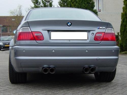 Eisenmann rear muffler stainless steel with le mans tips Duplex (left + right) BMW E46 M3