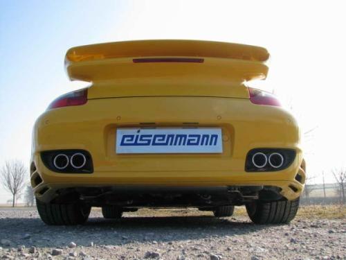 Eisenmann Racing Motorsport Sound Endschalldämpfer Edelstahl Duplex (links/rechts) passend für Porsc