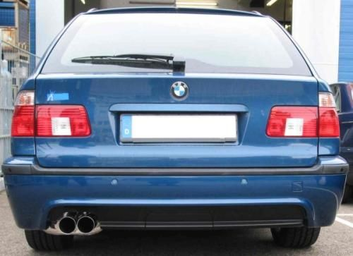 Eisenmann rear muffler stainless steel single sided BMW E39 Limousine/ sedan mit M-Technik-Serienheckschürze/ with M- Technik rear bumper