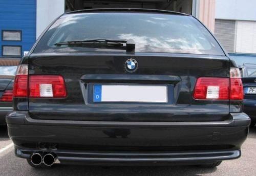 Eisenmann rear muffler stainless steel single sided BMW E39 Touring/estate mit Serienheckschürze/ with standard rear bumper