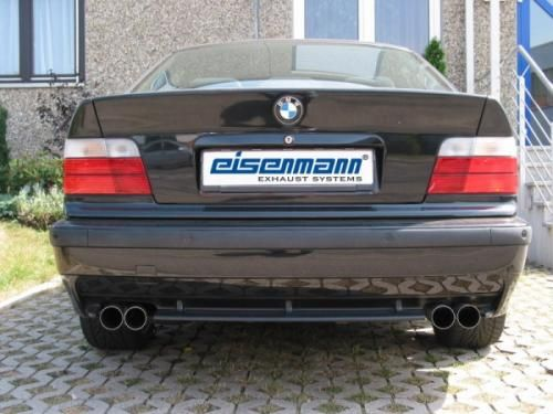 Eisenmann rear muffler stainless steel incl. Connecting pipe to catalyst Duplex (left + right) BMW E36 M3