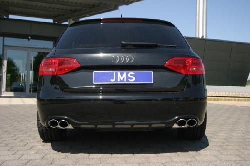 Eisenmann middle muffler + rear muffler single sided A4 B8 Limousine und Avant, incl. Quattro