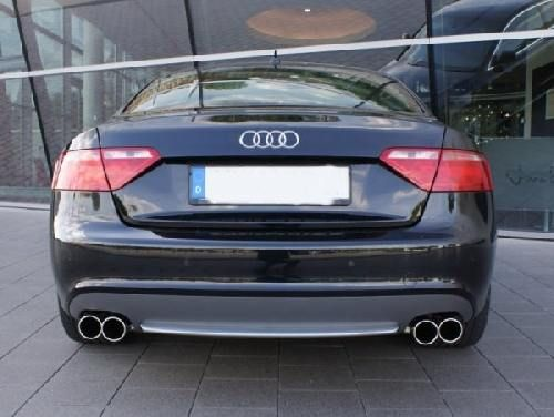 Eisenmann rear muffler+middle muffler stainless steel Duplex (left + right) Audi A5 Typ B8 Quattro