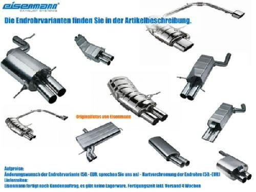 Eisenmann rear muffler stainless steel Duplex (left + right) Audi A6 (4F2) Quattro Limousine/ sedan/Avant/ etstate