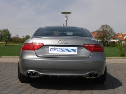Eisenmann rear muffler +middle muffler stainless steel Duplex (left + right) Audi A5 Typ B8 Quattro