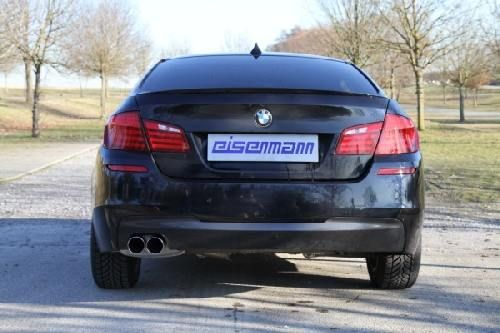 Eisenmann rear muffler stainless steel single sided F07 GT
