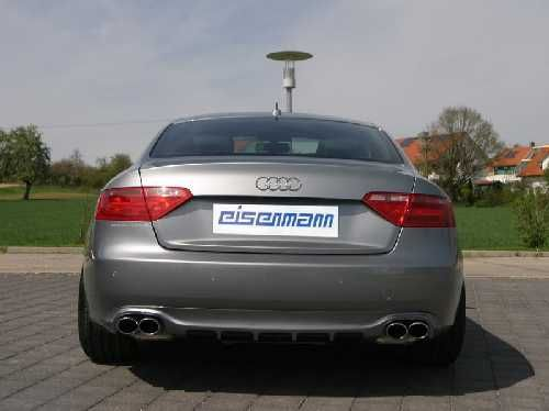 Eisenmann Racing rear muffler Motorsport Sound stainless steel Duplex (left + right) Audi S5 B8 Quattro Coupe/compartment Bj./yoc 06/2007 -
