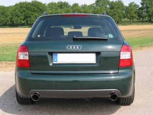 Eisenmann rear muffler stainless steel Duplex (left + right) Audi A4 (8E2) Typ B6 Quattro Limousine/ sedan/Avant/ etstate